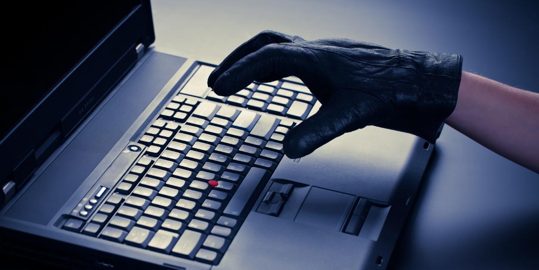 Hacker With Black Glove