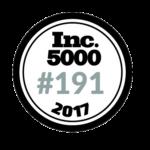 Inc. 5000 #191 2017 Winner